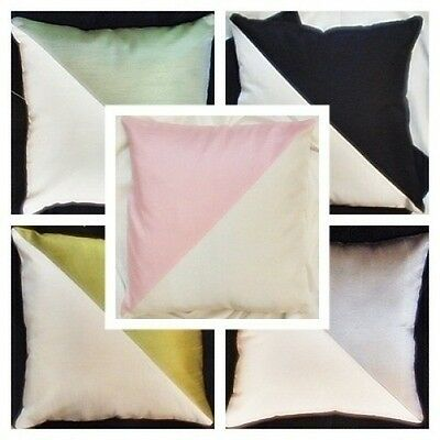 faux silk decorative toss pillow case cushion covers bed couch sofa