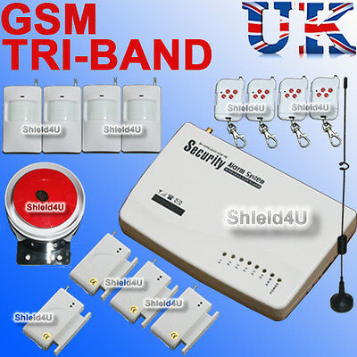 Led Security Wireless Gsm Autodial Home House Office Burglar Intruder Fire Alarm