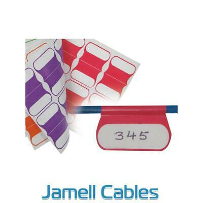 Cabac Cable Labels Multi Colour 100 Pack CABLABELMC