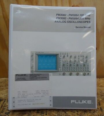 Fluke Pm 3082 , Pm 3084 , Pm3092 , Pm 3094 Analog Oscilloscope Service Manual