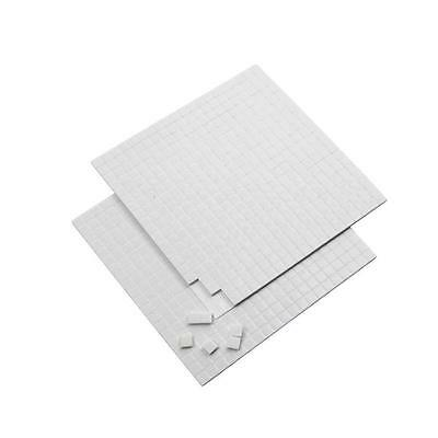 3D 400 Sticky Pads 5mm x 2mm Thick Double-Sided Adhesive Foam Card Making Craft