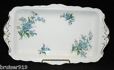 FORGET ME NOT Royal Albert SANDWICH PLATE Tray Platter Serving Dish ENGLAND