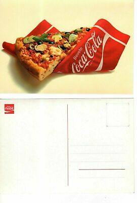 CARTOLINA (POSTCARD) ORIGINALE COCA COLA fine 1970 (pizza)