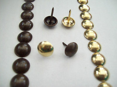 1000 X Antique Brass Crafts Furniture Upholstery Nails Studs Tacks Wood Chest