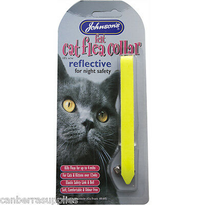 Johnsons Vet Reflective Cat Flea Collar Various Colours - FREE UK POSTAGE