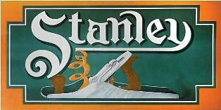 Stanley Plane Advertising Sign Reproduction of the c.1910 Tin Sign with Plane