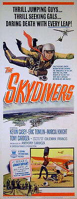 SKYDIVERS 1963 Kevin Casey, Eric Tomlin, Marcia Knight US INSERT POSTER