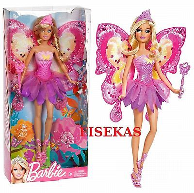 2011 Barbie Faitytale Magic Fashion Flower Fairy Doll Blonde Hair Wand W2966 NEW