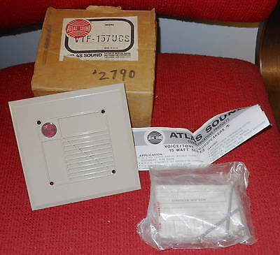 Atlas Sound - Model #VTF-157UCS - Voice / Tone Loudspeaker - NEW