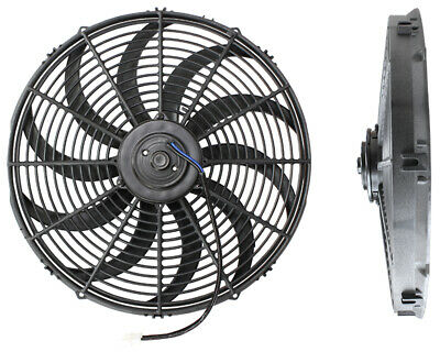 "Aeroflow 16"" Curved Blade 12V Electric Reversable Cooling Thermo Fan Af49-1003"