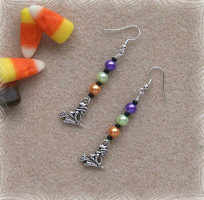 Witches  Halloween Themed Beaded DIY Earring Jewelry Making Instruction Kit