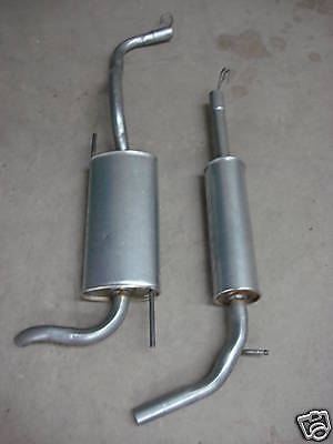 VW Polo 1.4 1.6 Centre & Rear Exhaust Boxes 94-00 Spare Replacement Part
