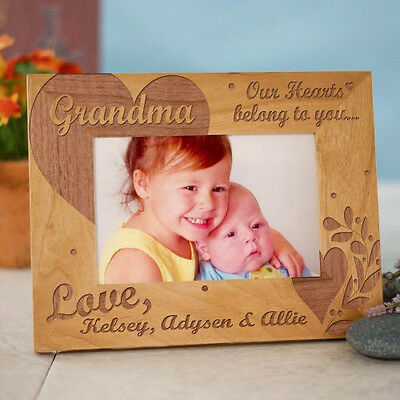 Personalized Our Hearts Belong To Picture Frame Engraved Photo Frame Any Title