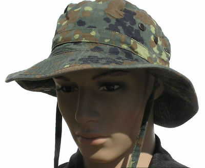 GERMAN ARMY BUSH HAT in FLECKTARN CAMO BUNDESWEHR GENUINE ISSUE