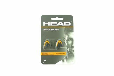 *NEU*2x Head Xtra Damp Vibrastop Murray schwarz orange Dämpfer Tennis 2er black