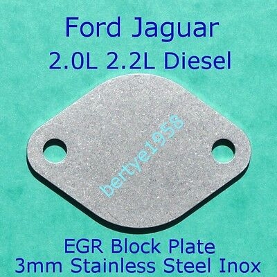 EGR Valve Blank Plate Ford Mondeo ST Jaguar X-type 2.0 2.2 TDCi 3mm Stainless