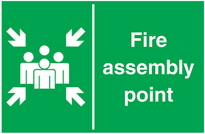 fire assembly point safety sticker windows walls doors vinyl graphics decals