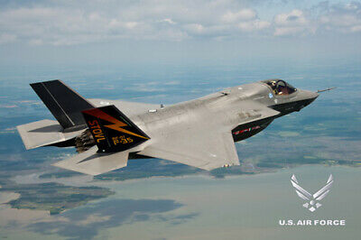 US AIR FORCE POSTER F35 Amazing Shot F-35 - 2 - RARE HOT NEW 24x36