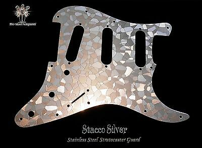 Strat Stainless Guard, Etched Steel Fender Stratocaster Chrome Metal Pickguard