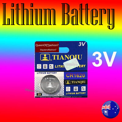 10X CR1620 Battery Blister Lithium 3V Cell/Button Batteries Sydney Local Post