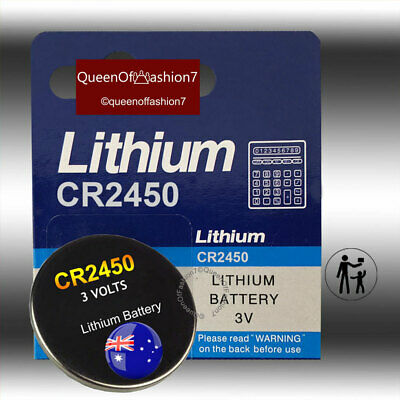 6 x CR2450 Battery 3V Lithium Cell Button Batteries FREE DELIVERY Local Stock