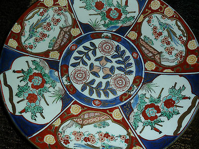 Antique Wonderful Japanese Meiji Imari Porcelain Charger/ Plate