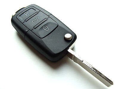 Fits Skoda Octavia Fabia Superb 3 Button Remote Key Fob Case + Blank HAA Blade