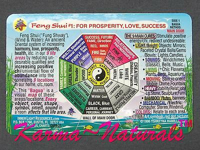 FENG SHUI 1 Wallet CARD Bagua for Love Prosperity Success - Inner Light Resource