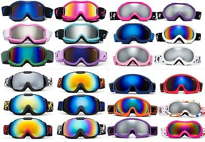 Popular Kids Girl Boy Youth Snow Ski Goggles, Lots of Colors!! Pouch Included!!