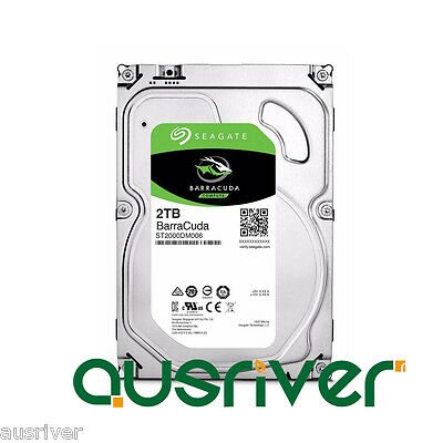 "Seagate BarraCuda 2TB 3.5"" SATA Internal Desktop Hard Drive HDD 7200RPM 64MB"