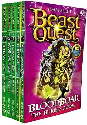 Beast Quest Series 8 Collection 6 Book Set (43 - 48) Adam Blade The Pirate King