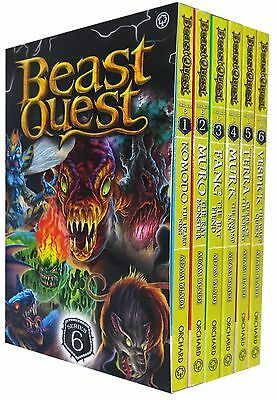 Beast Quest Series 6 The World of Chaos 6 Books Collection Box Set (Books 31-36)