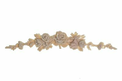 French Cottage Shabby Vintage Chic Large Rose Floral Flexible Garland Applique