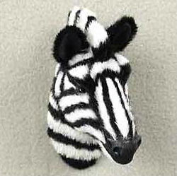 ZEBRA Fur Furry Head Realistic Stone Resin MAGNET