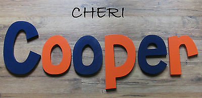 "Wooden Wall Letters 10"" size Painted Wood Children Nursery Playroom Names Cheri"