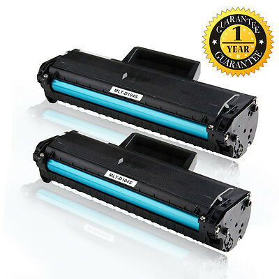 2 Black MLT-D104S Toner Cartridge For Samsung ML-1660 1670 1865 1865W 1860 1861