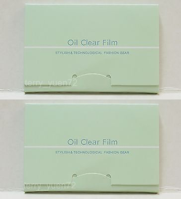 JAPAN 600 pcs Oil Clear Flim Blotting Paper 6 packs