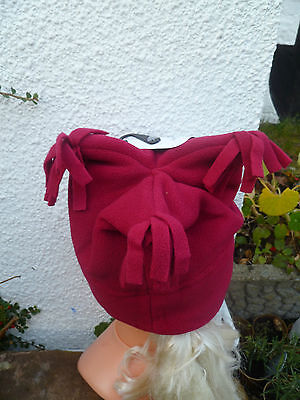 Muddy Puddles Red Blue Fleece Tricorn Hat Or Blue Mittens 2 To 4 Years Bnwt