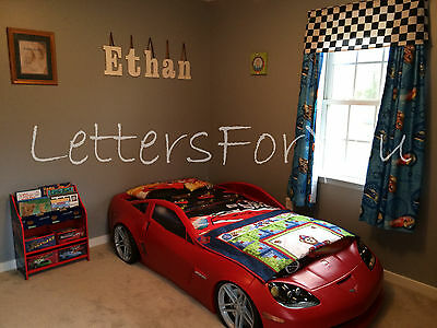 "Wooden Wall Letters 10"" size Painted Wood Children Nursery Playroom Names Block"