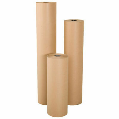 Realpack® 450 500 600 750 900 1150 Strong Brown Kraft Wrapping Paper Rolls