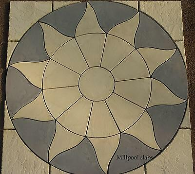 Paving Slabs Stone Patio Sun Circle &sq Off 1.8M Free Del Note Exceptions