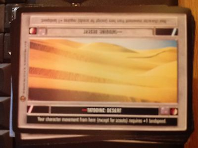 Star Wars CCG Jabba/'s Palace Tatooine Great Pit Of Carkoon NrMint-MINT SWCCG