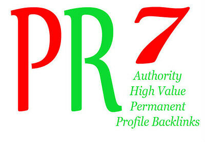 20 Backlinks from PR7 Authority Sites,Permanent,Dofollow,Panda Proofed ! SEO!