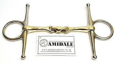 Full Cheek Horse Bit Copper Mix Lozenge Stainless Steel German Steel Amidale New