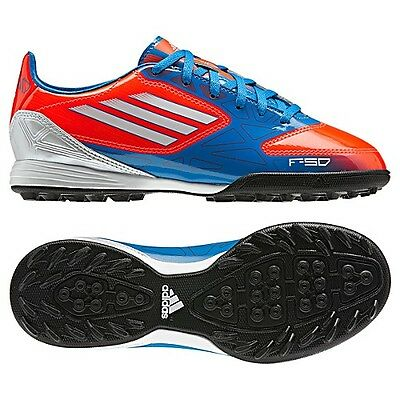 competitive price b8d5d 77848 adidas F10 TRX TF Turf 2012 Soccer Shoes Blue   White   Red New Kids Youth