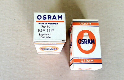 Lot of 5 New Orsam Bulb Lamp * 70480 5.5V 35W (Made in Germany)