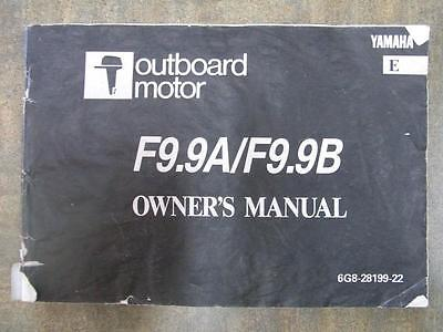YAMAHA - Outboard Motor - Owner's Manual