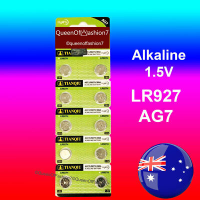 10X 395/399/AG7/LR927/LR57 Alkaline Battery Cell Button Batteries FREE DELIVERY