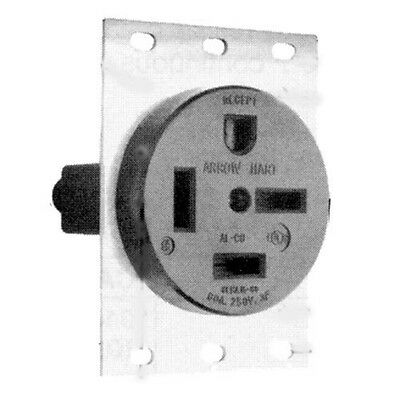 SINGLE RECEPTACLE ARROW HART/COOPER Angled 4 Wire 3 Phase 60A/250V 15-60R 381282