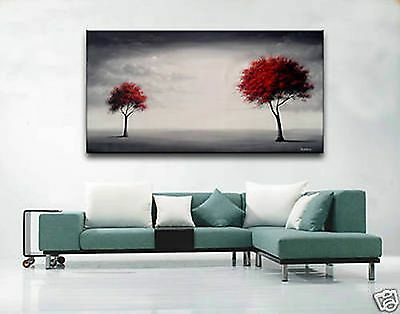 """MODERN ABSTRACT DECOR OIL PAINTING ON ART CANVAS """"TREE"""" (No Frame)"""